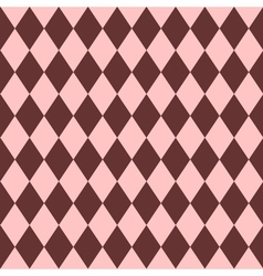 Pink and brown tile pattern vector