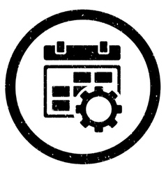Calendar Settings Rounded Grainy Icon vector image