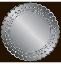 Silver certificate badges vector