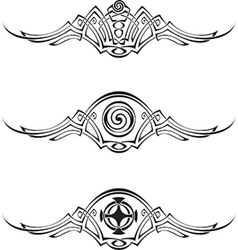Celtic style patterns vector
