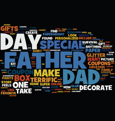 Terrific gifts to make for father s day text vector