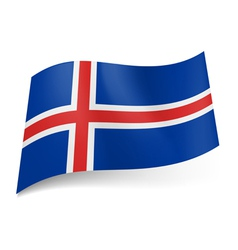 State flag of iceland vector