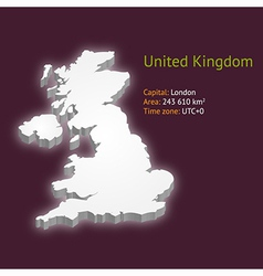 3d map of the UK vector image