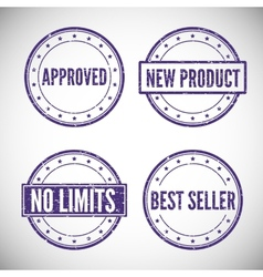 Set stamp for trade and business vector