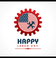 Creative happy labor day greeting stock vector