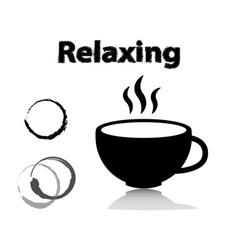 coffee line icons set vector image