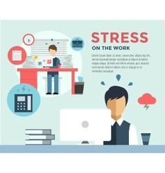 New job after stress work infographic students vector