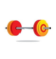 Metal barbell cartoon vector