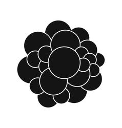 Virus black simple icon vector image