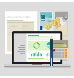 Account receivable accounting software money vector