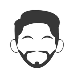Head of man with hair icon vector