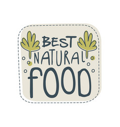 beast natural food logo template label for vector image vector image