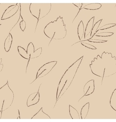 Beige and grey autumn leaves grunge seamless vector