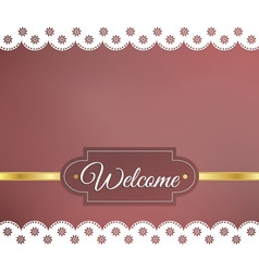 Blurred background napkin welcome vector