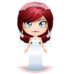 Bride Dressed For Her Wedding Day 4 vector image vector image