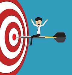Business success target vector
