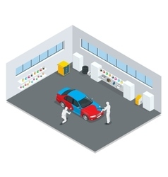 Car painting process vector image