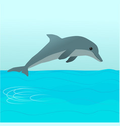 dolphin diving vector image