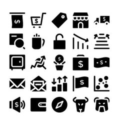 Finance and Money Icons 4 vector image vector image