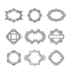 Geometric vintage label frames vector image vector image