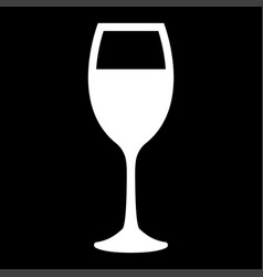 Glass of wine white color icon vector