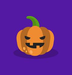 halloween trick or treat jack olantern scary vector image vector image