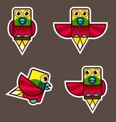 Lesser bird of paradise cartoon vector