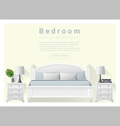Modern bedroom background interior design 7 vector