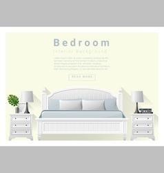 Modern bedroom background Interior design 7 vector image vector image