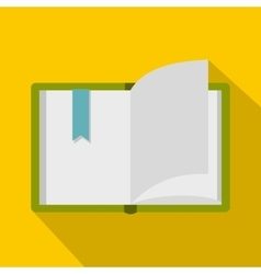 Open book icon flat style vector