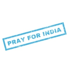 Pray for india rubber stamp vector