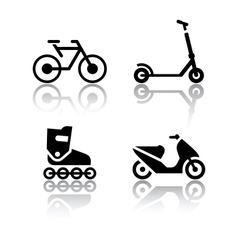 set of transport icons - extreme sports vector image vector image