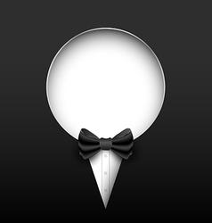 Tuxedo banner vector image