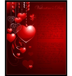 valentines day concept background vector image vector image