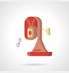 brass tuba music flat color icon vector image