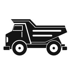 Dump truck icon simple vector