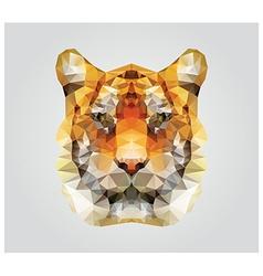 Geometric polygon tiger head triangle pattern vector image