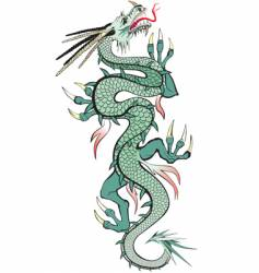 oriental dragon vector image