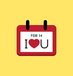 Love valentine day calendar vector
