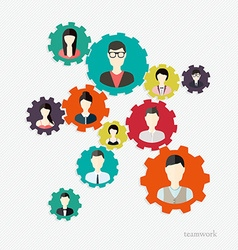 Modern Business Concept The idea of teamwork and vector image