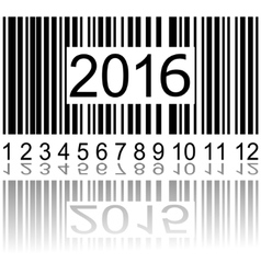 2016 new year on the barcode vector