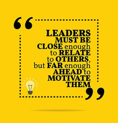 Inspirational motivational quote leaders must be vector