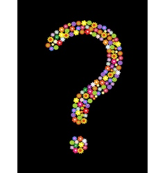 flower question mark vector image