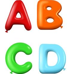 Multicolored Cartoon alphabet vector image