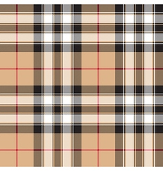 Pride of scotland gold tartan fabric texture vector