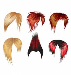 Set of hair style samples vector