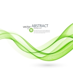 Abstract background green wavy vector