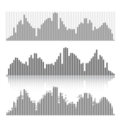 Set of graphic equalizers on a white background vector