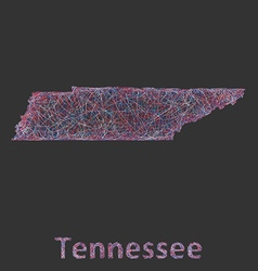 Tennessee line art map vector