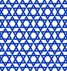 Blue six-pointed star pattern vector